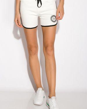 Хлопковые спортивные шорты - белые Time Of Style