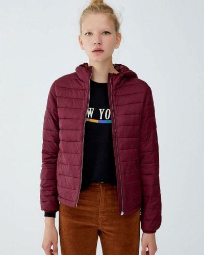 Утепленная куртка - красная Pull&bear