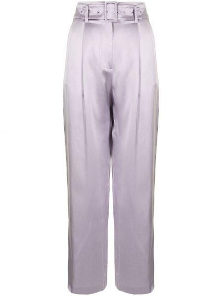 Шелковые брюки - фиолетовые Fleur Du Mal
