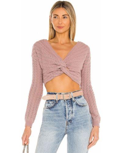 Ватный акриловый розовый свитер Majorelle