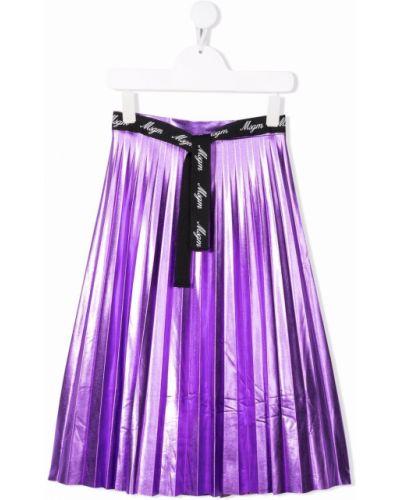 Spódnica plisowana - fioletowa Msgm Kids