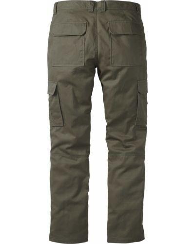 Оливковые брюки карго с карманами для беременных Bonprix