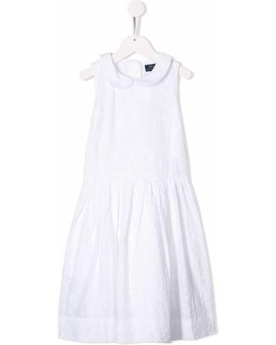 Платье с рукавами плиссированное на пуговицах Ralph Lauren Kids