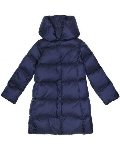 Pikowana ciemnoniebieski nylon płaszcz Polo Ralph Lauren Kids