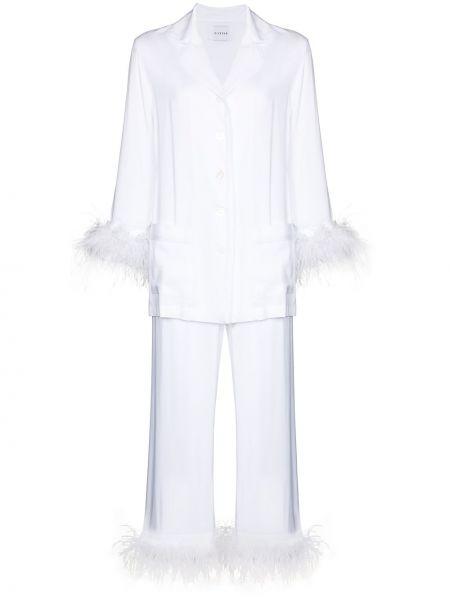 Biała piżama z wiskozy Sleeper