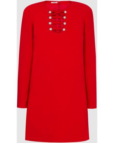 Красное платье мини Miu Miu
