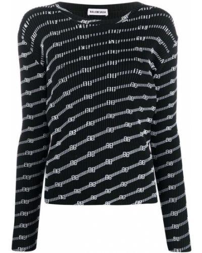 Sweter, czarny Balenciaga