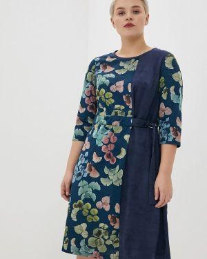 Повседневное платье осеннее синее Gorda Bella