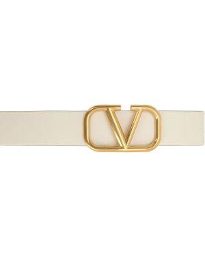 Белый ремень металлический с пряжкой двусторонний Valentino Garavani