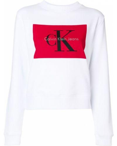 Белая толстовка Calvin Klein Jeans