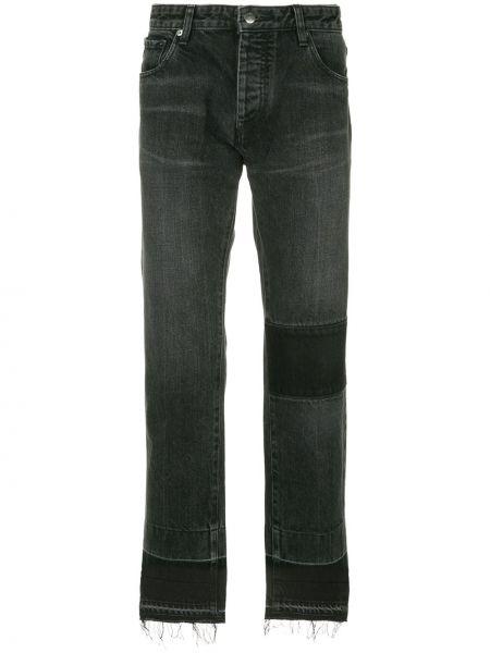 Czarne jeansy bawełniane z paskiem Ambush