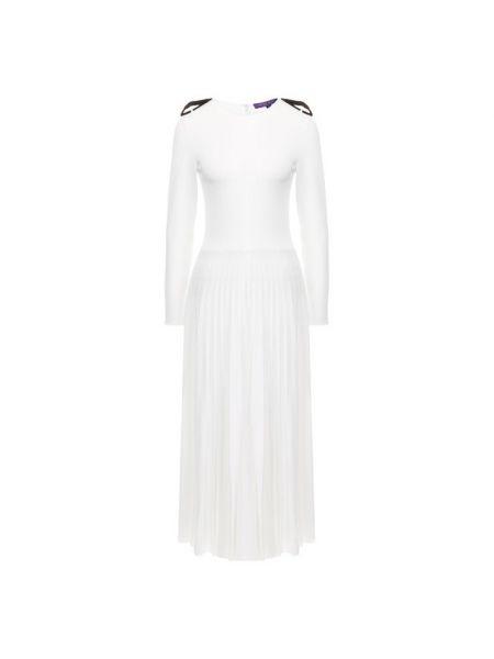 Платье миди со вставками морское Ralph Lauren