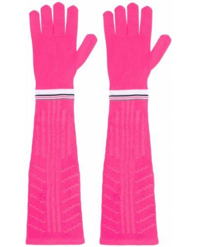 Перчатки длинные вязаные розовый Prada