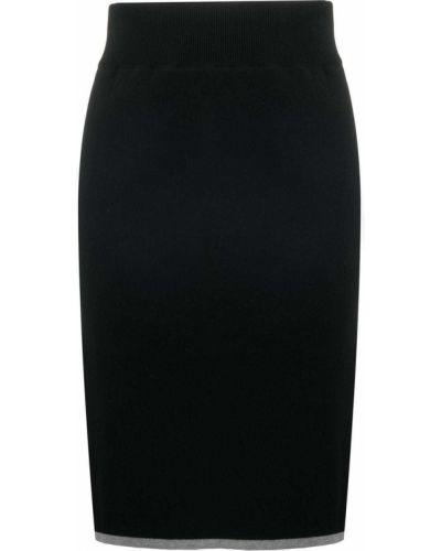Прямая с завышенной талией вязаная юбка миди See By Chloé