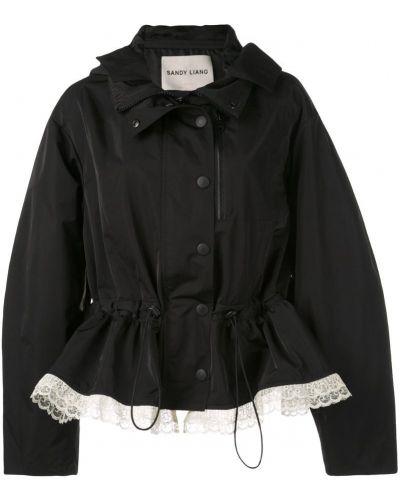 Черная куртка на пуговицах круглая Sandy Liang