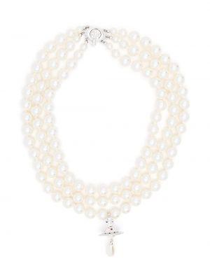Ожерелье металлическое - белое Vivienne Westwood