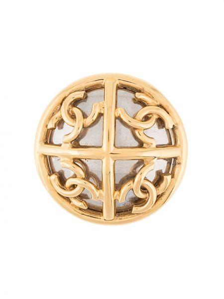 Broszka ze srebra pozłacany ze złota Chanel Pre-owned