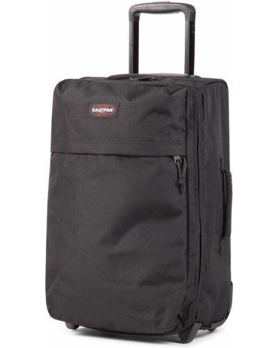 Czarna walizka materiałowa Eastpak