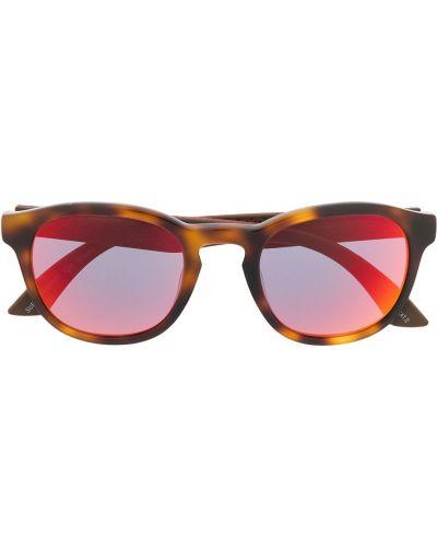 Солнцезащитные очки круглые хаки Puma
