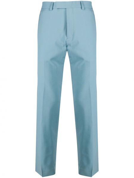 Шерстяной синий костюм Sandro Paris