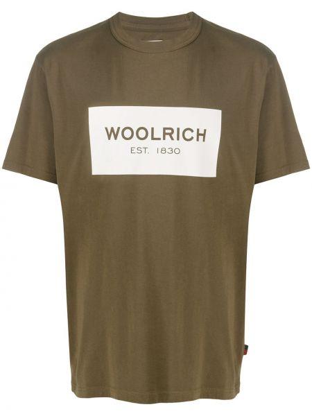 Koszula krótkie z krótkim rękawem z logo prosto Woolrich