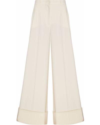 Свободные брюки с лампасами с отворотами Dolce&gabbana