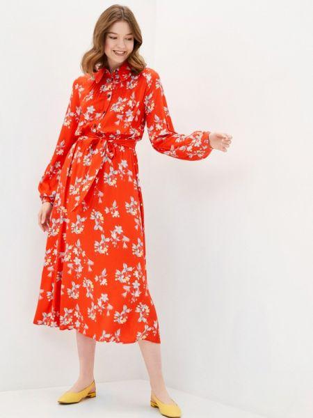 Платье - красное Solou
