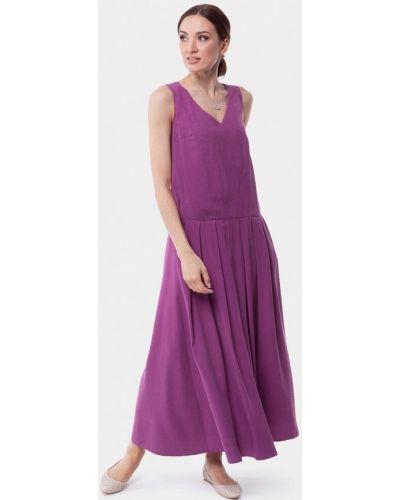 Платье макси розовое весеннее Vladi Collection