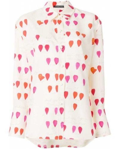 Бежевая блузка на кнопках Alexander Mcqueen
