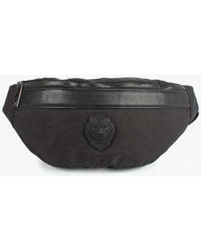 Поясная сумка текстильная кожаная Guess