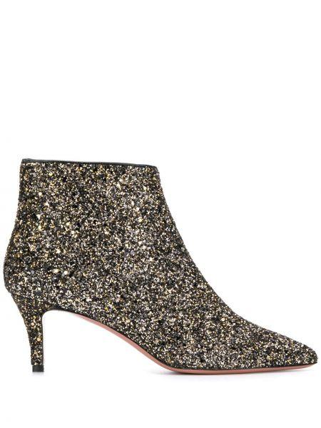 Черные ботинки на каблуке на молнии P.a.r.o.s.h.