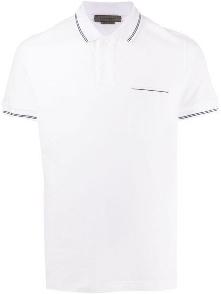 Koszula krótkie z krótkim rękawem z kieszeniami z łatami Corneliani