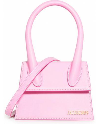 Różowa torebka skórzana Jacquemus
