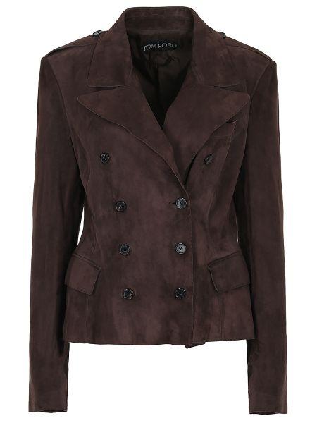 Кожаная куртка замшевая на пуговицах Tom Ford