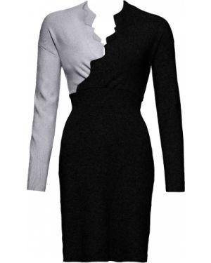 Платье с запахом вязаное Bonprix