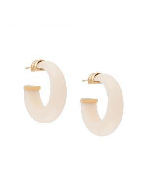 Белые серьги-кольца с бабочкой Gas Bijoux