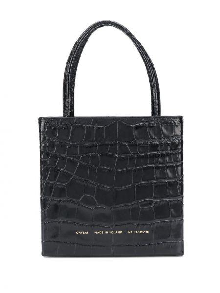 Czarna torba na ramię skórzana Chylak