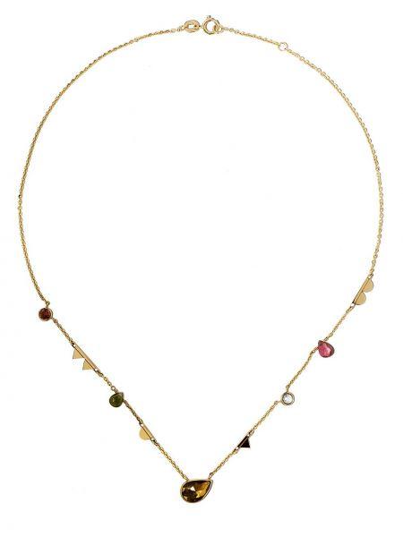 Różowy złoty naszyjnik szafir Lito