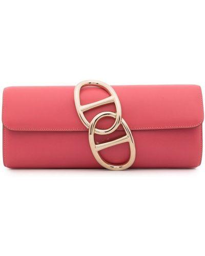 Złota kopertówka - różowa Hermes