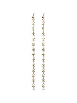 Желтые золотые серьги с подвесками с бриллиантом Lizzie Mandler Fine Jewelry