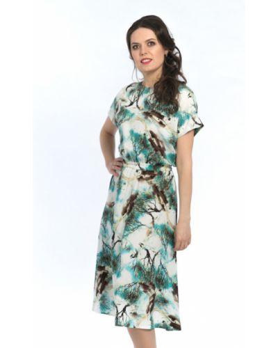 Летнее платье из штапеля с поясом Modellos