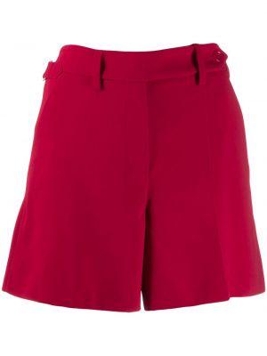 Красные шорты с карманами на пуговицах из вискозы Red Valentino