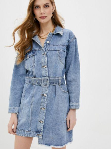 Джинсовое платье - голубое Softy