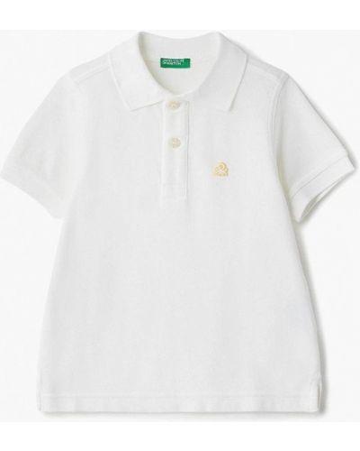 Поло белое United Colors Of Benetton