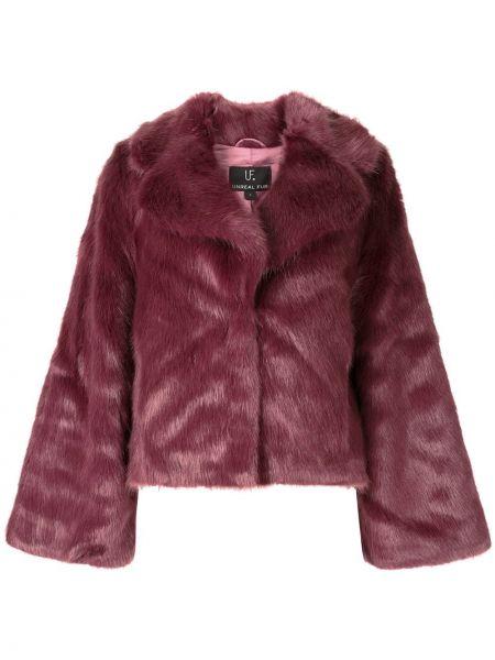 Фиолетовая короткая куртка Unreal Fur