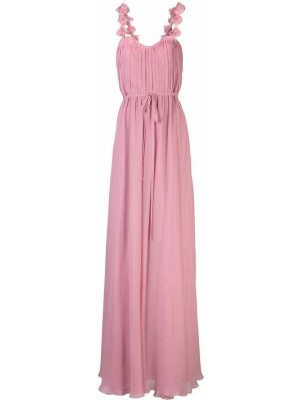 Вечернее платье с цветочным принтом с рукавами Marchesa Notte