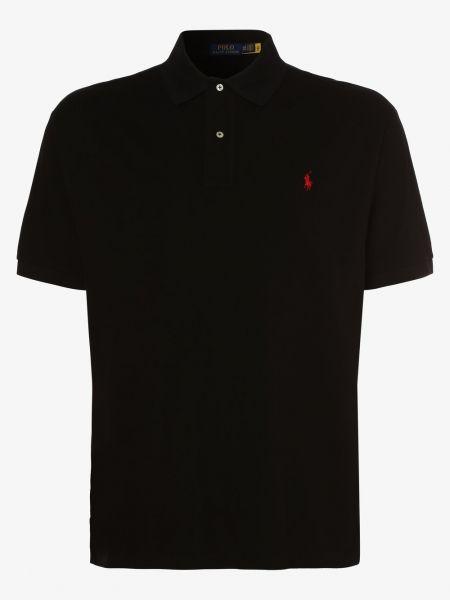 Bawełna bawełna czarny t-shirt z kołnierzem Polo Ralph Lauren