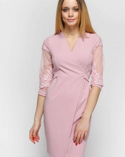 Асимметричное розовое коктейльное платье Zubrytskaya