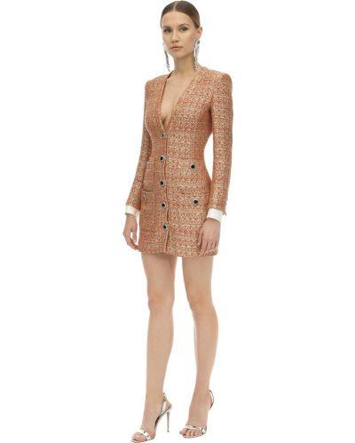 Платье макси с длинными рукавами - красное Alessandra Rich