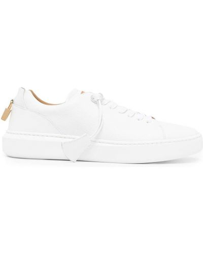 Białe sneakersy koronkowe Buscemi